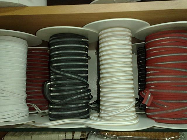 Резинки под пряжку 6, 8,10, 12, 14 мм. (Италия) цвет в ассорт.