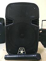 Портативная акустика с радиомикрофоном S-08 (USB,Blutooth,радио)