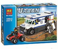 Конструктор Bela 10418 (аналог Lego City 60043) Автомобиль для перевозки заключенных 198 дет