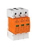 Ограничители перенапряжения для защиты солнечных батарей PV, установка 600 В постоянного тока