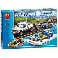 Конструктор Bela 10421 (аналог Lego City 60045) Полицейский патруль  409 дет