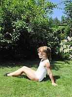 Купальник гимнастический, майка, хлопок р. 30