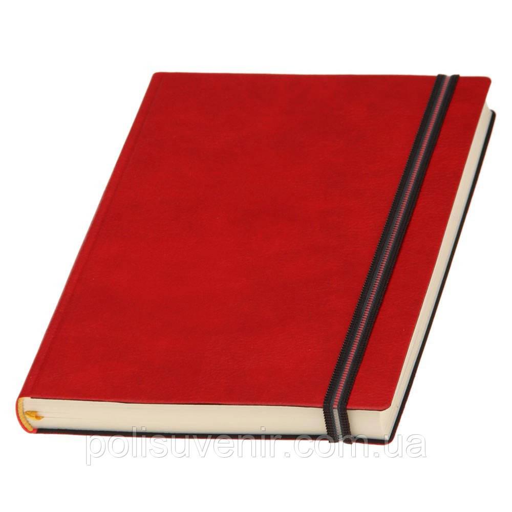Щоденник А5 Дакар Преміум Еластик  кремовий блок