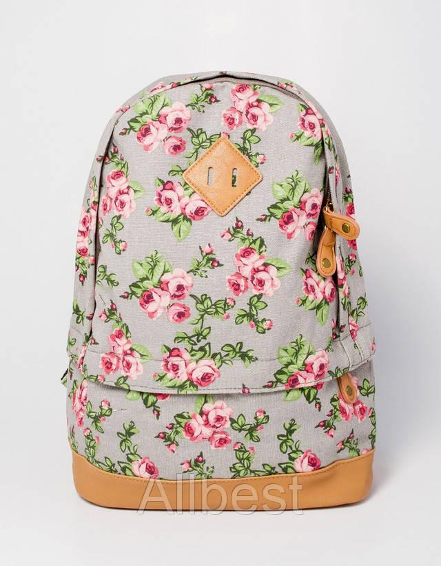 Текстильный рюкзак С Винтажным Принтом Роз