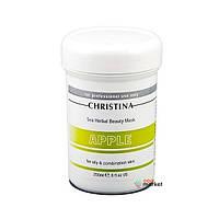 Маски для лица Christina Яблочная маска Christina Sea Herbal Beauty Mask Green Apple для жирной и комбинированной кожи 250 мл