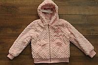Меховой батник для девочек ( внутри мех- травка) 1 год