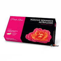 Одноразовая одежда Doman Перчатки нитриловые Doman XS Pink Rose 100 шт