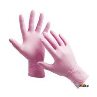 Одноразовая одежда Doman Перчатки нитриловые Doman XS неопудреные розовые 100 шт