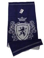 Рушник махровий  Cool, 50*90, модель Bravery синій