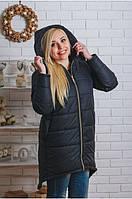 Пальто зимнее с капюшоном
