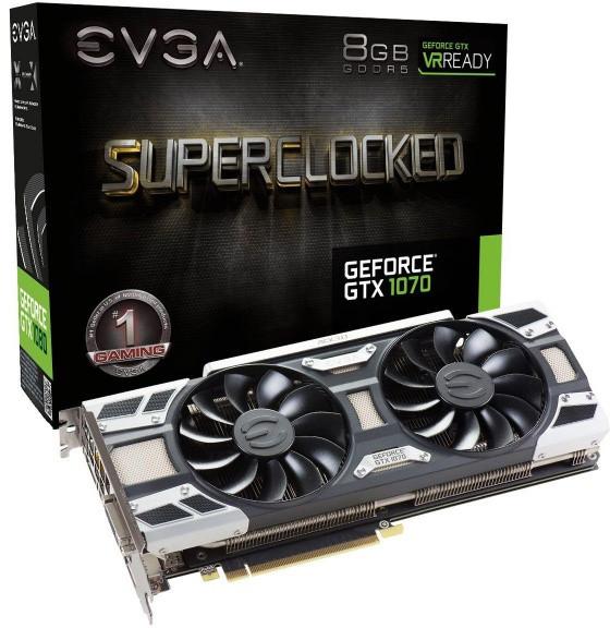 Видеокарта EVGA GeForce GTX 1070 SC GAMING ACX 3.0 (08G-P4-6173-KR)