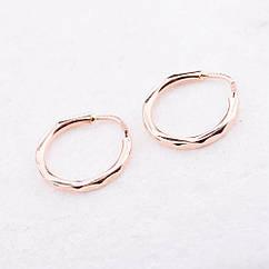 Золотые серьги кольца детские диам. 10 мм