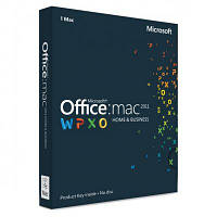 Microsoft Office Mac Home & Business для 1 ПК 2011 Русский (коробочная версия) (W6F-00211)