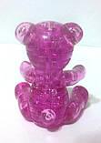 """Кристаллический пазл 3D """"Медвежонок"""" жёлтый, фото 3"""