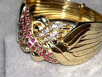 Золотое кольцо с Бриллиантом и Рубином от WickerRing