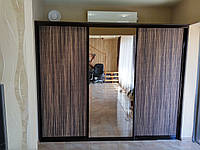 Встроенный шкаф купе с плитой Люм