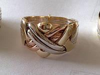 Кольцо из белого желтого и розового золота от WickerRing