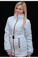 Женская куртка на синтепоне с поясом