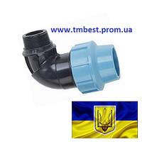 """Угол 40*1 1/4"""" РН ПНД зажимной компрессионный"""