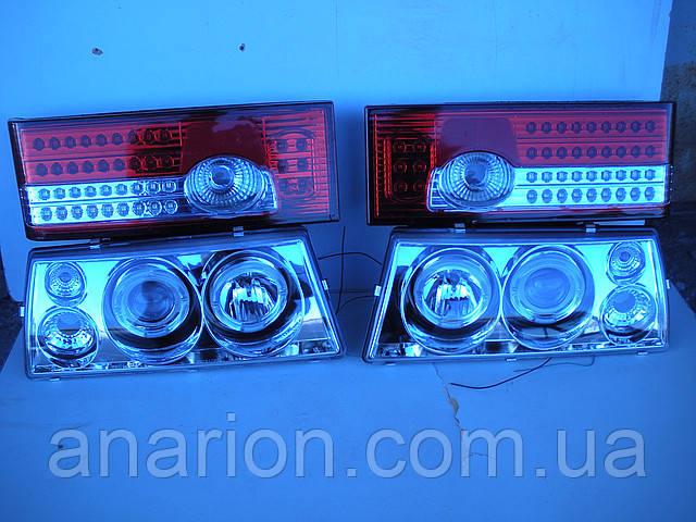 Диодные передние+задние фары на ВАЗ 2109 №3