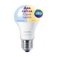 Светодиодная лампа Philips Е27 Scene Switch 9.5W A60 3000K/6500K