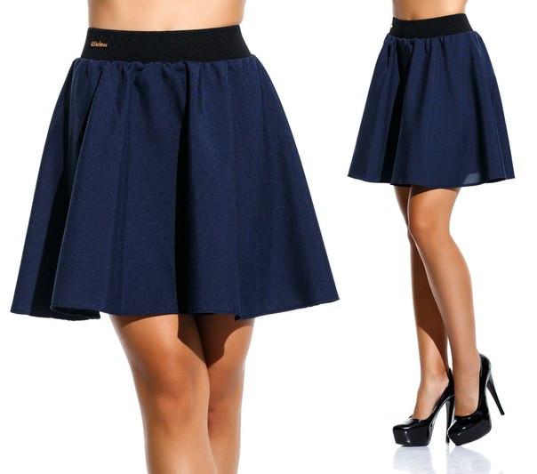 """Женская стильная короткая юбка 120 """"Габардин Клёш Резинка"""" в расцветках"""
