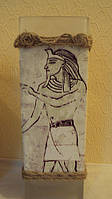 Ваза стеклянная Египет высота 30 см