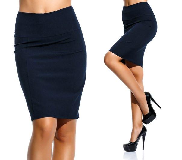 """Элегантная женская юбка средней длины 055 """"Креп Кокетка Карандаш"""" в расцветках"""