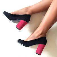 Стильные женские туфли - лодочка TroisRois из натурального турецкого замша