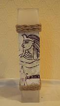 Ваза стеклянная Египет высота 28 см