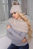 Зимний женский комплект «Аваланж» (шапка и шарф-хомут)