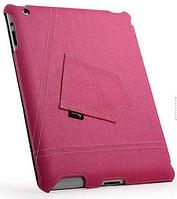 Уникальный чехол книжка для Apple ipad 2 3 4 джинс розовый