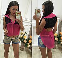 Блуза-фрак гипюр