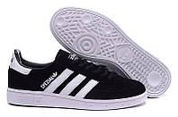 Кроссовки Adidas spezial black white. Живое фото (адидас спешел)