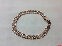 Массивный мужской золотой браслет - арабский бисмарк на 22 грамма