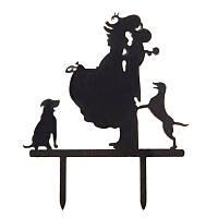 Акриловая фигурка на свадебный торт с животными