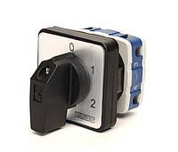 Кулачковый переключатель 2-ступенчатый 1-полюсный с возвратом (0-1-2) 25А