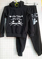 Детский спортивный костюм для девочки (начес) Pussy, р.134