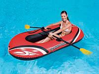 Надувная лодка с веслами и насосом BestWay 61062! До 120 кг!