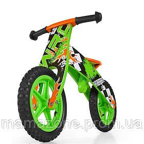 Беговел детский WRC Flip Milly Mally GREEN (зеленый)