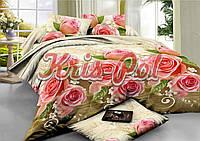 Комплект постельного белья ранфорс 150 х 220  розы