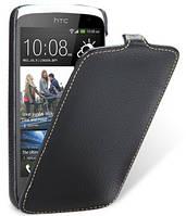 Кожаный чехол Melkco для HTC Desire 500 черный, фото 1