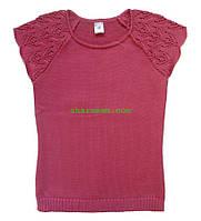 Джемпер для девочки (малиновый цвет), рост 110-116 см