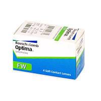 Трёхмесячные контактные линзы Optima FW, упаковка 4 шт, polymacon 38%