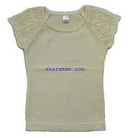 Джемпер для девочки (молочный цвет), рост 110-116 см, фото 1