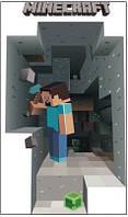 Наклейка на стену Майнкрафт - Стив в пещере