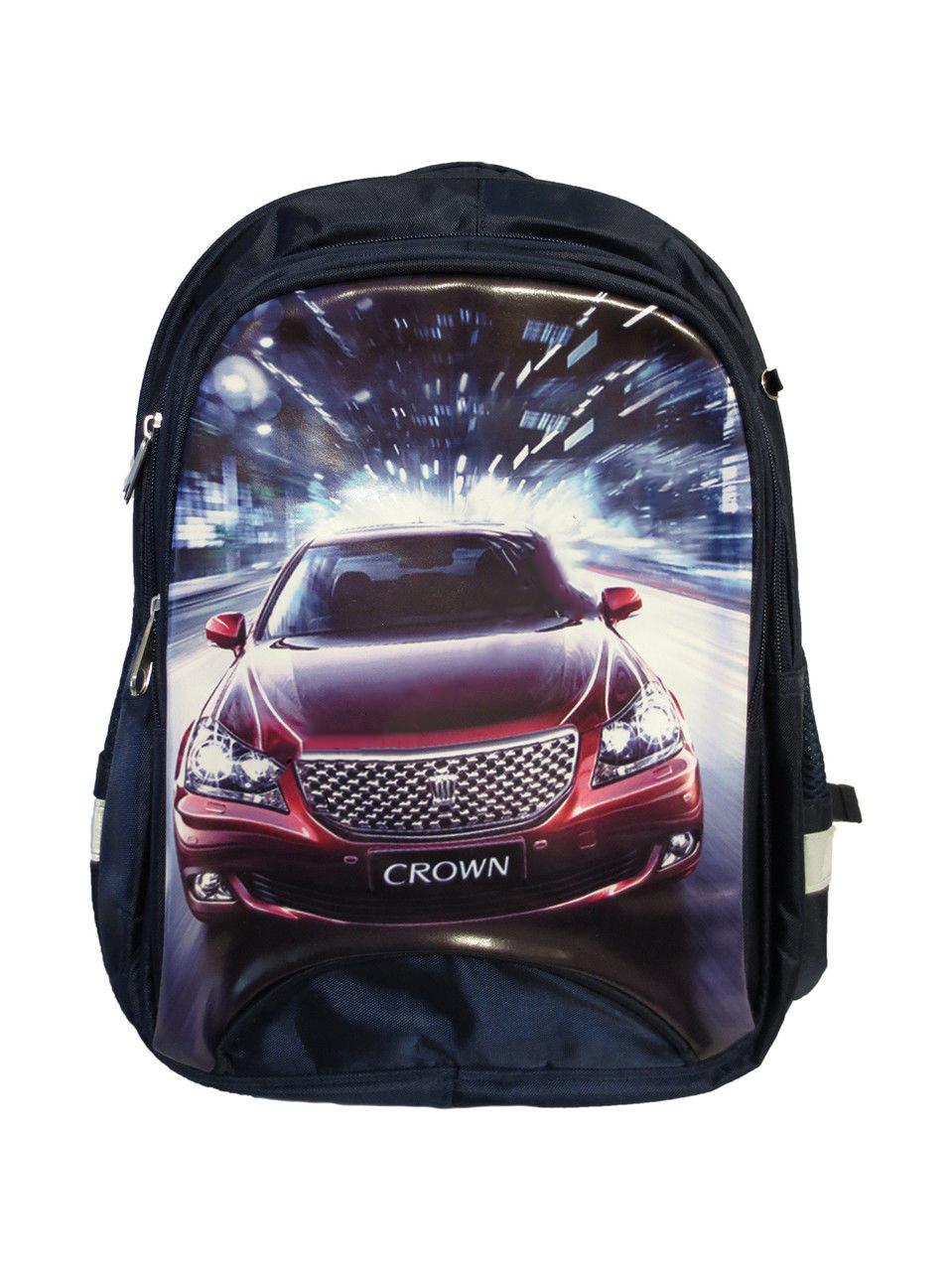 """Рюкзак для мальчиков """"Гонки машина"""". Школьный ортопедический ранец. Хорошее качество. Купить. Код: КДН547"""