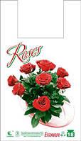 Пакет майка 28*49 роза 250шт/уп
