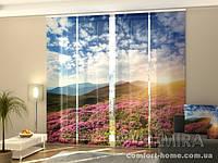 Панельная штора Цветы и горы комплект 4 шт