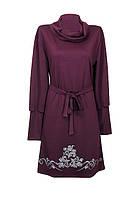 Трикотажное платье с воротником Винтаж в стиле ретро